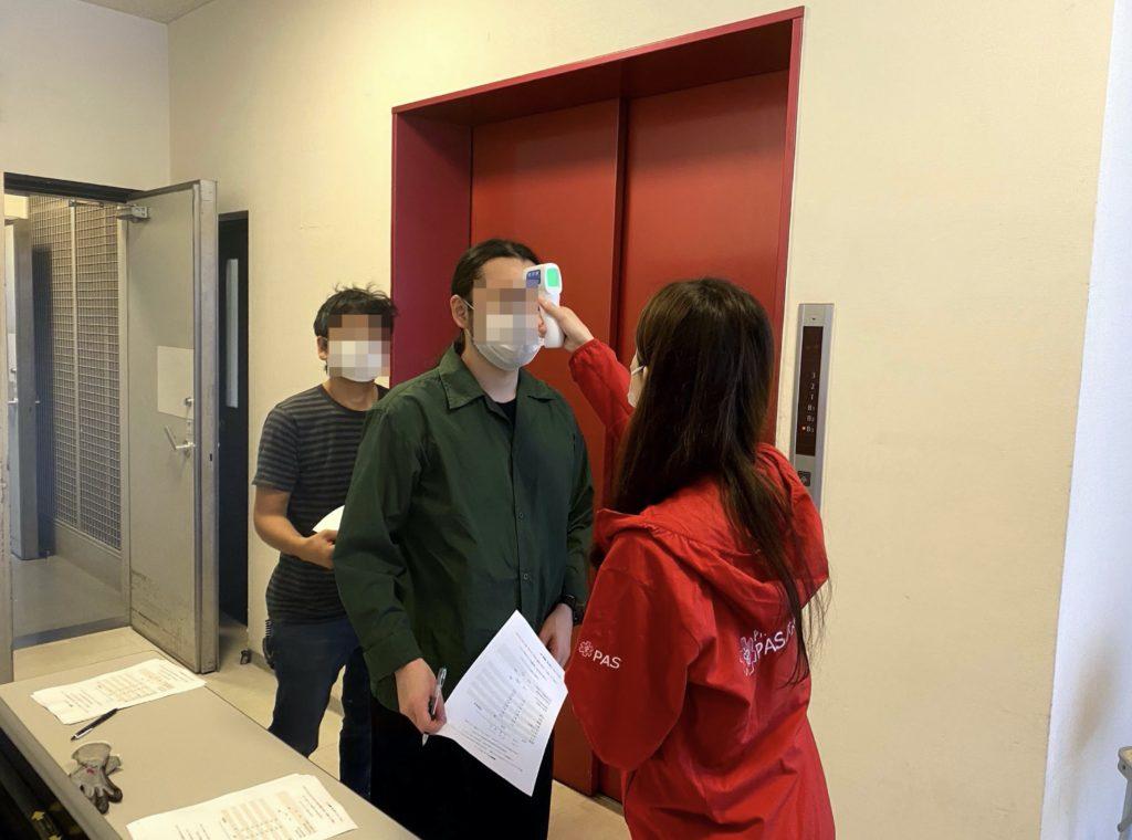 看護師による検温リスク管理